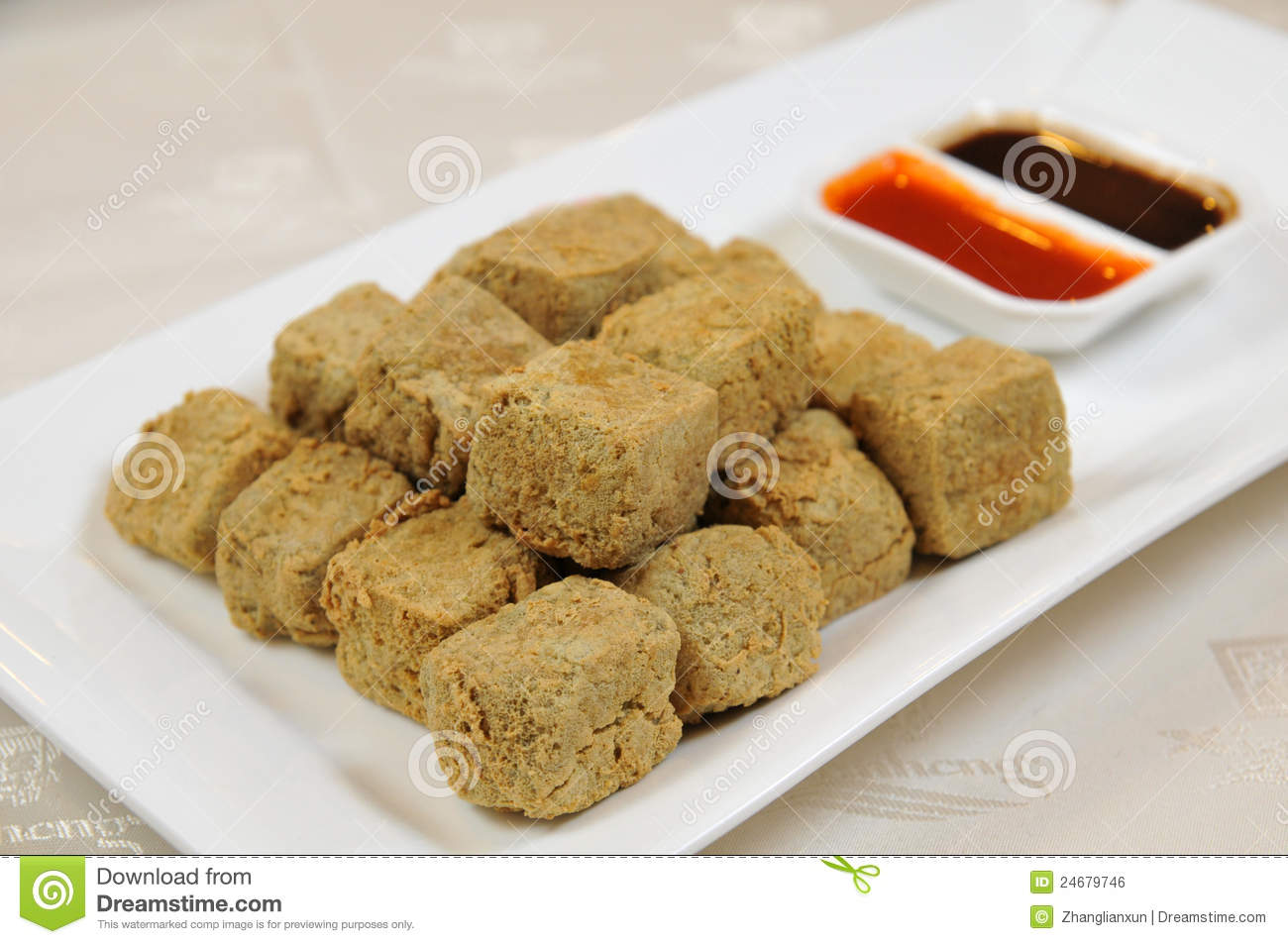 ... ginger dipping sauce crispy tofu triangles with asian dipping sauce