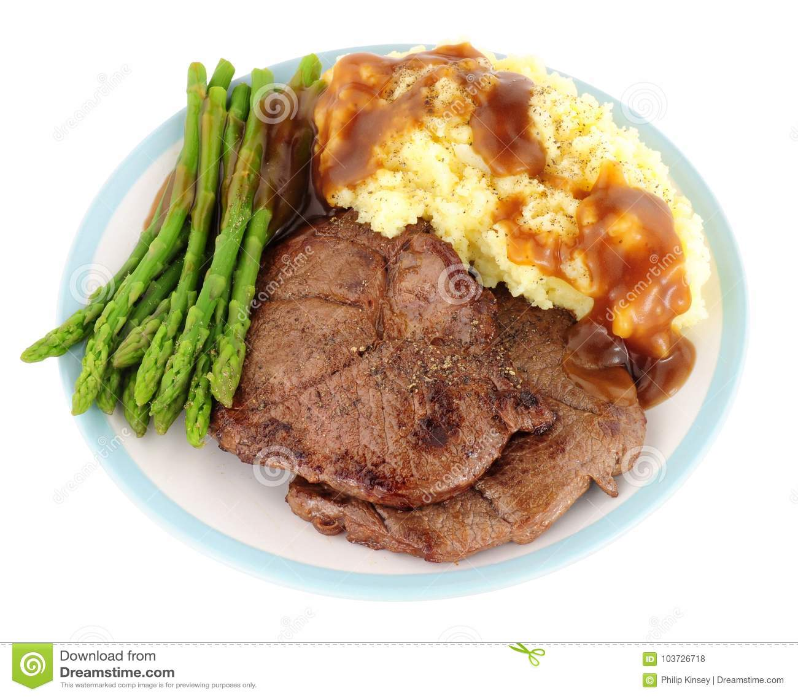 Fried Venison Steak Meal