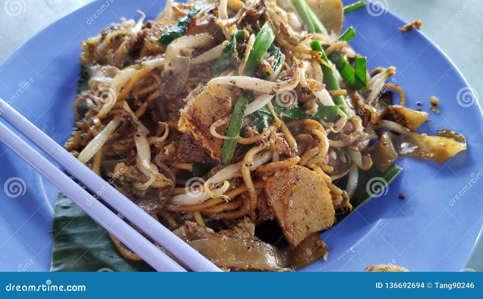 Fried Wide Rice Noodles de Malasia