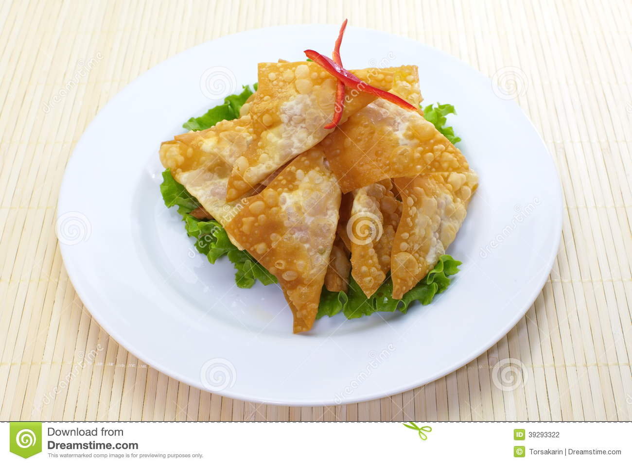 Fried wonton stock photo image 39293322 for Asian cuisine appetizers