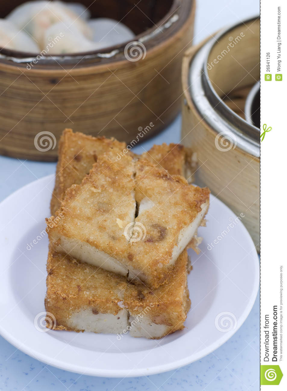 Pan Fried Taro Cake