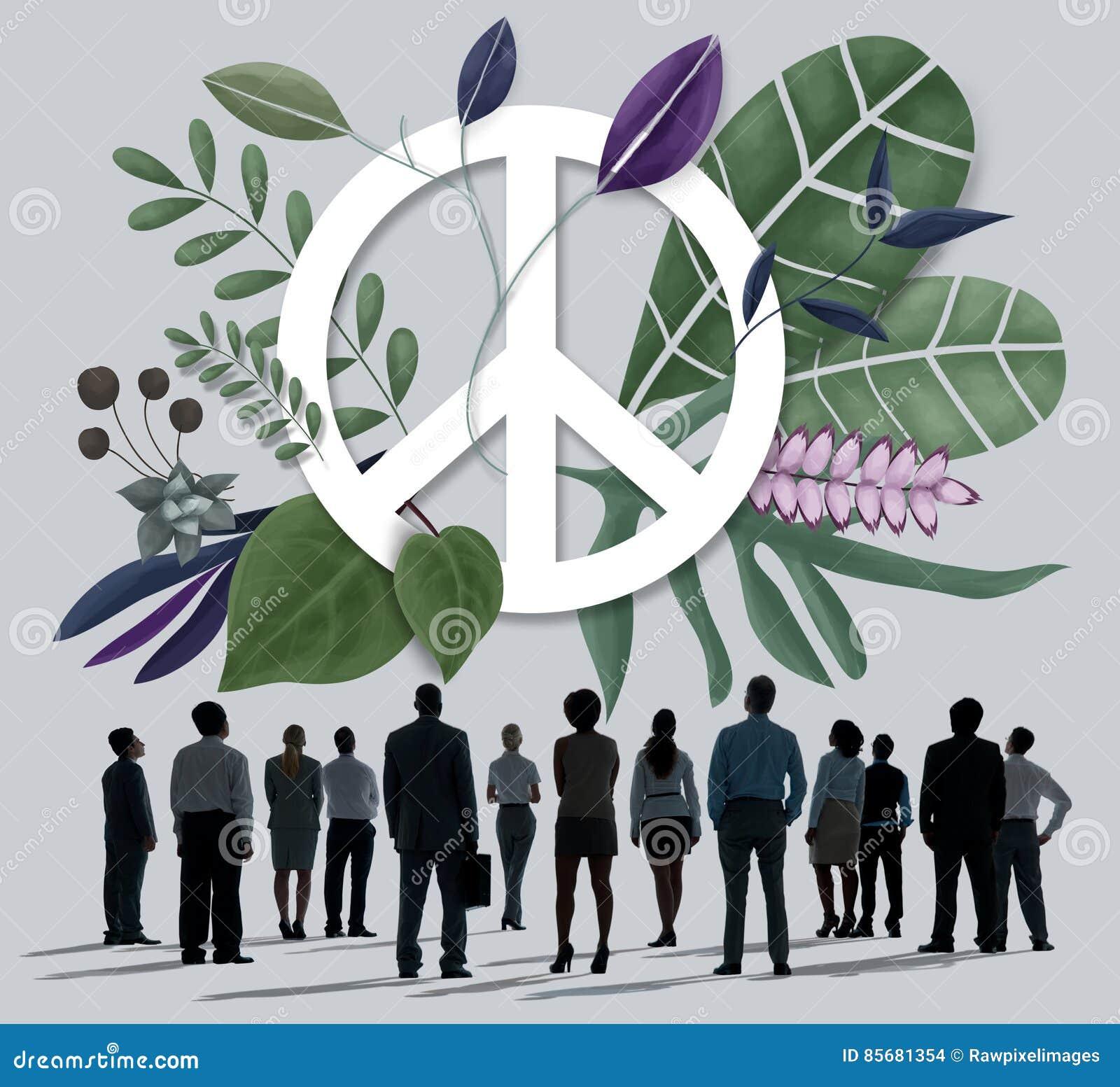 Friedensglückliche Hippie-Liebes-Retro- Konzept