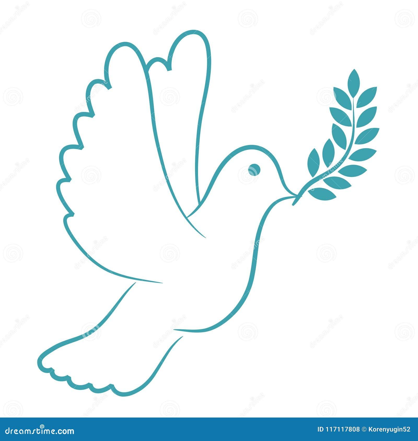 Friedenstauben-Blau