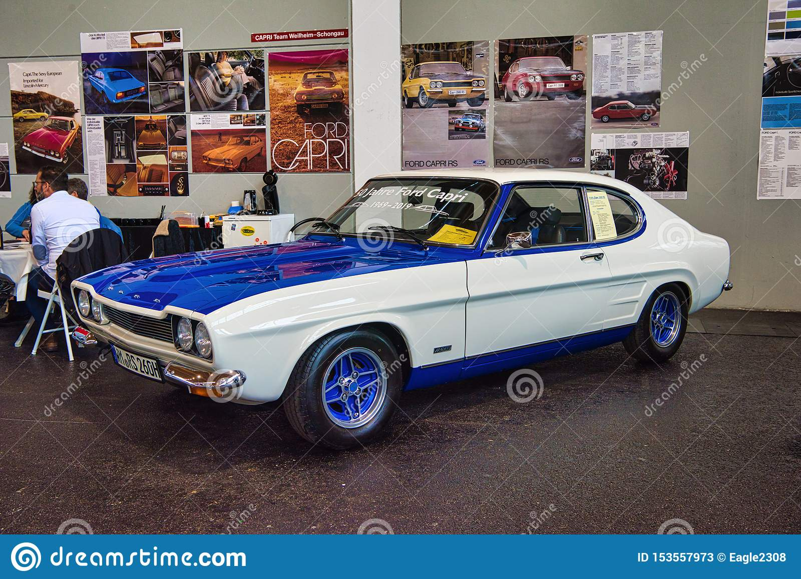 Friedrichshafen May 2019 White Blue Ford Capri 2600 Rs 1970 At Motorworld Classics Bodensee On May 11 2019 In Friedrichshafen Editorial Stock Photo Image Of 1970 Circuit 153557973