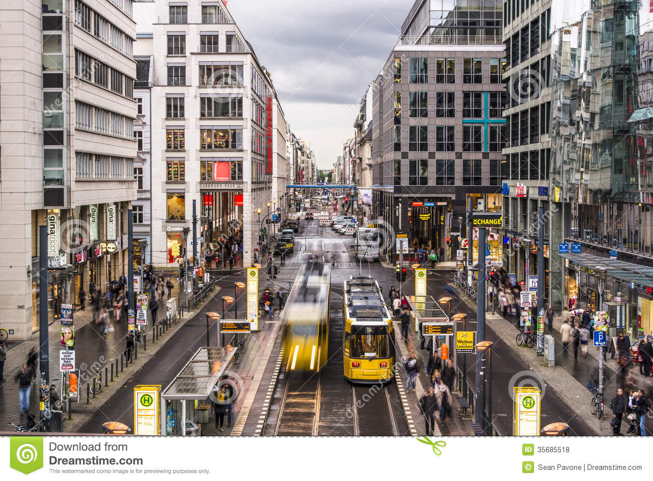 Friedrichstrasse street in berlin editorial stock photo for Wohndesign 2 fermob store in berlin
