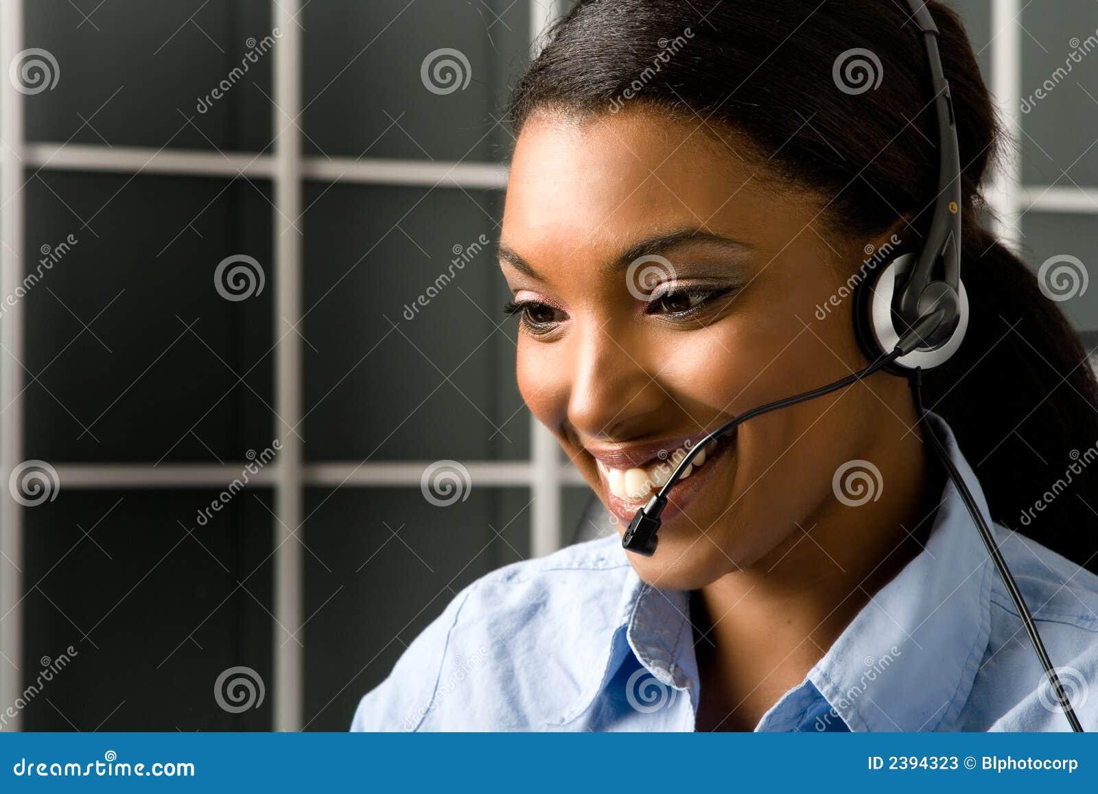 Friendly Customer Service Rep Stock Photos