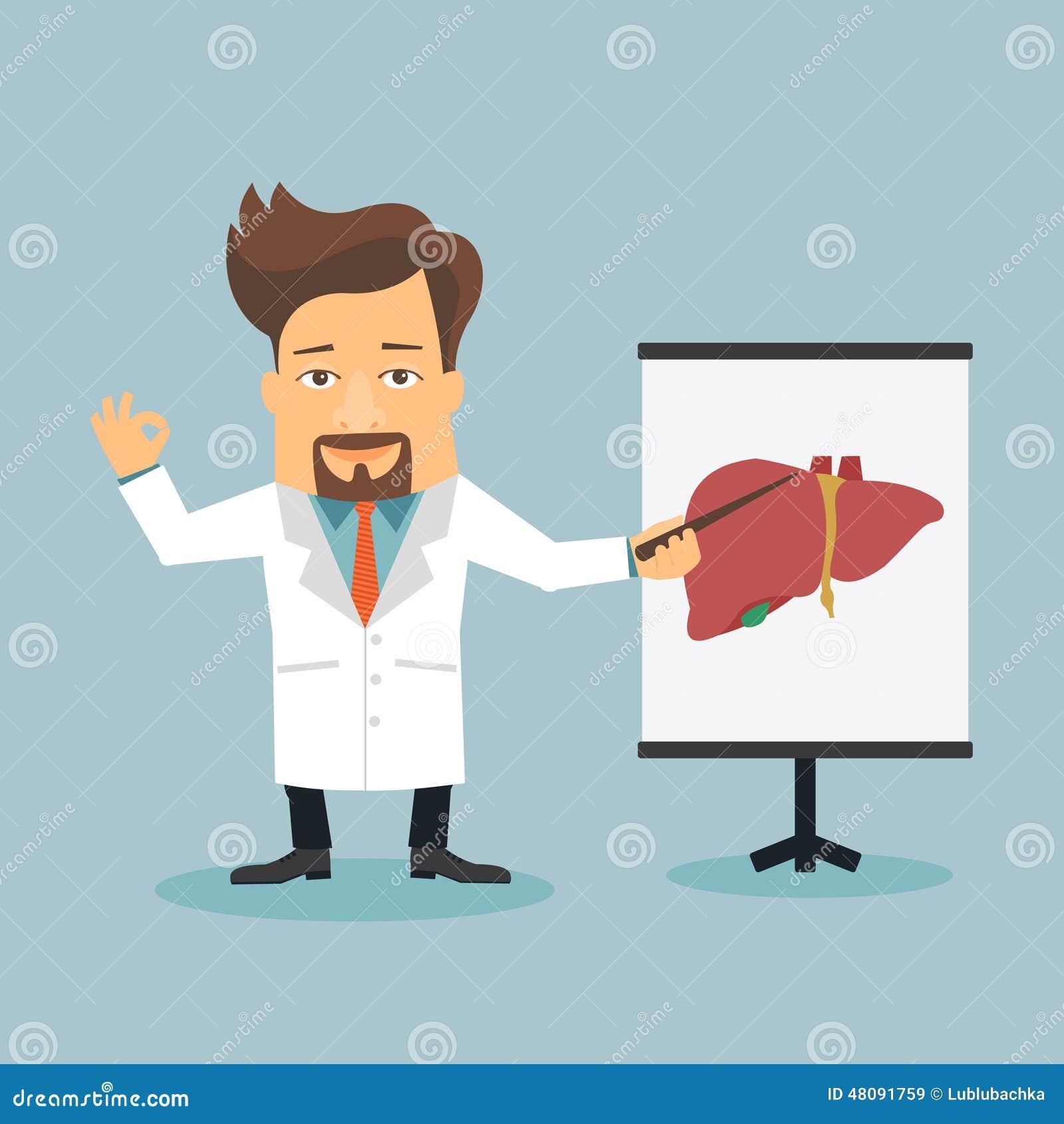 Friendly doctor therapist flat cartoon character stock - Imagenes de animacion ...