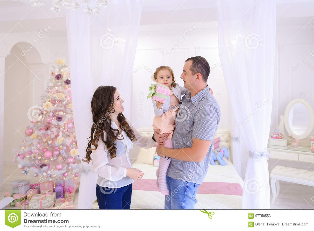Friendly family happily spending time together and having fun me