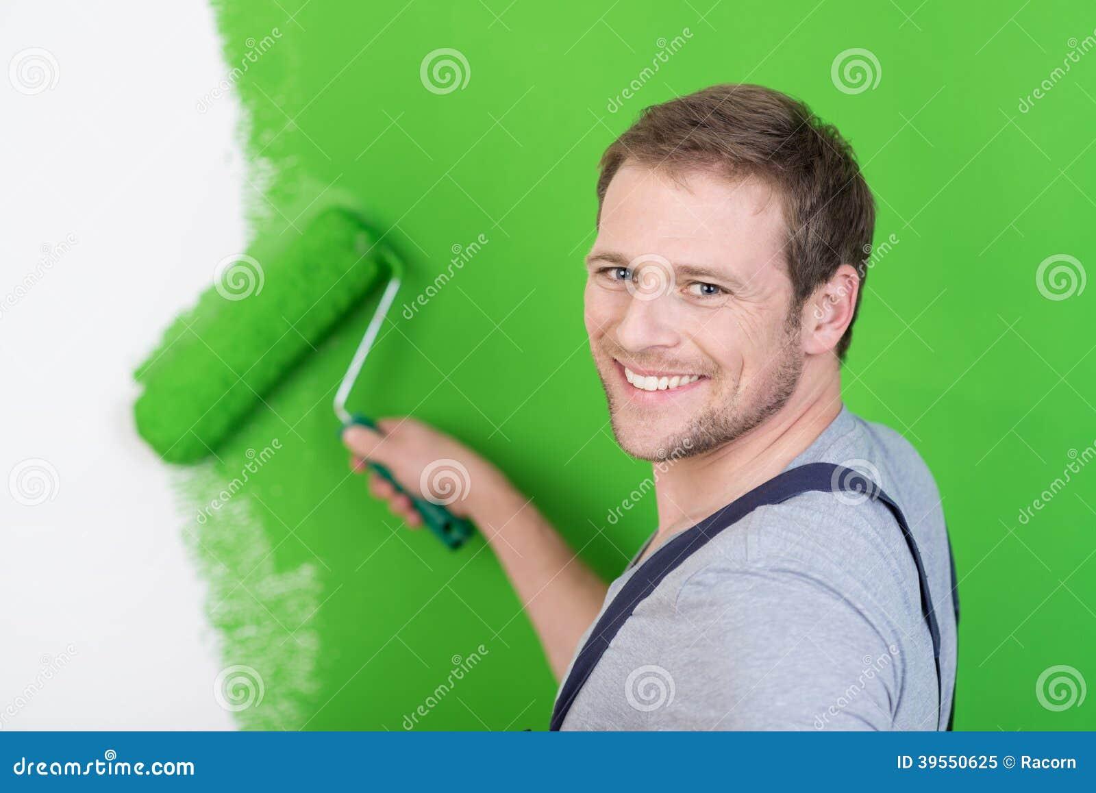 Friendly handsome handyman or painter
