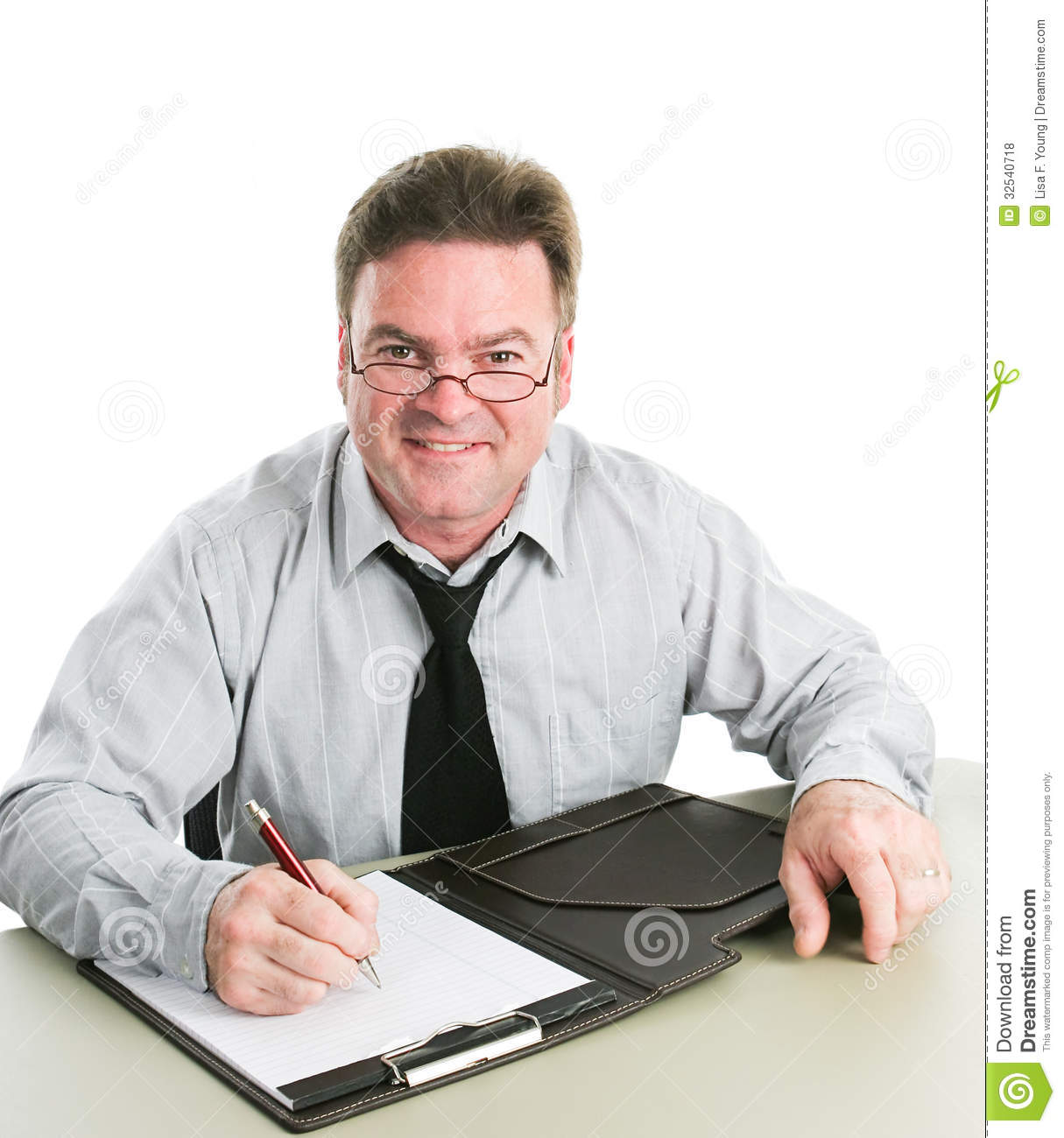 Friendly Job Interviewer Royalty Free Stock Photos Image