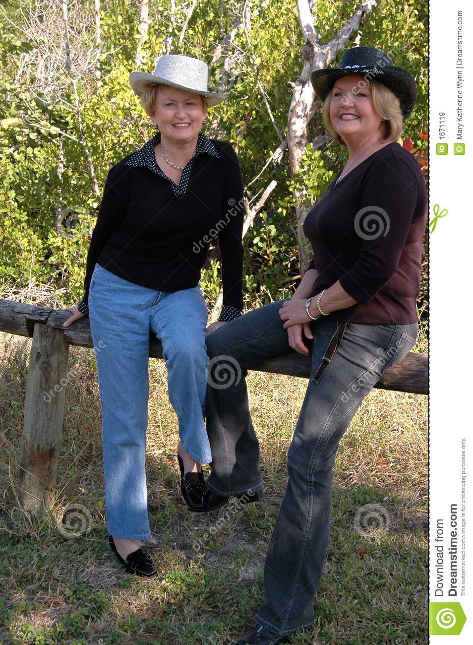Mature cowboy and cowgirls