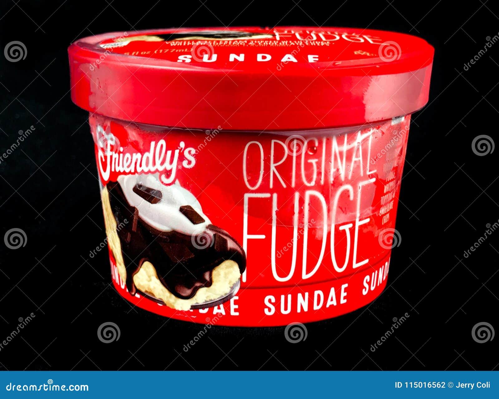 Friendly`s Individual Original Fudge Ice Cream Sundae
