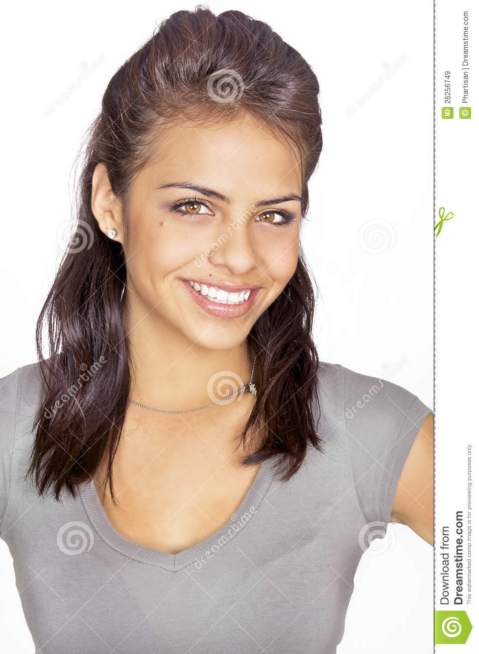 Friendly smiling young woman