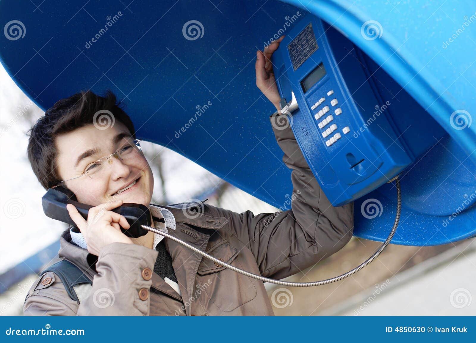 Friendly talk on telephone