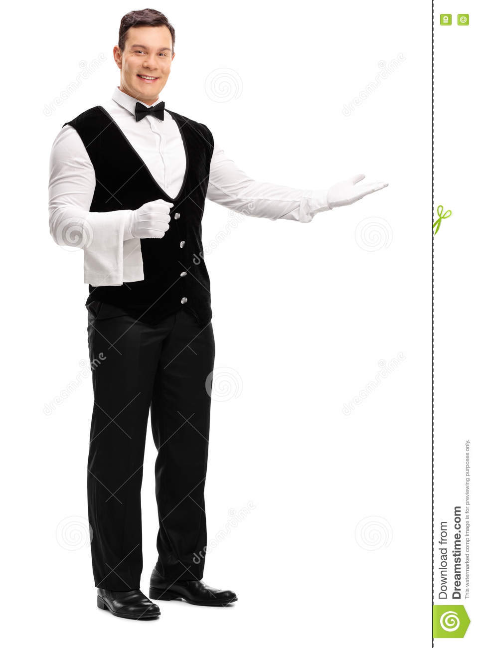 Friendly waiter greeting someone stock photo image of caucasian friendly waiter greeting someone m4hsunfo