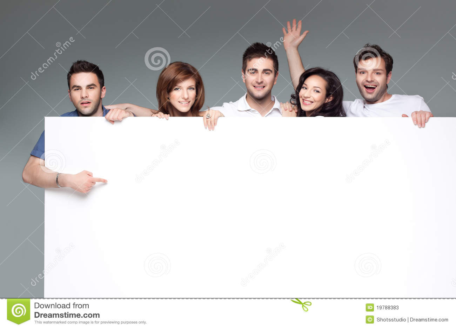 Friends advertising white board