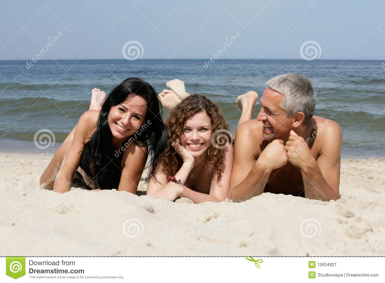 Download Friends on the beach stock image. Image of family, girl - 10834821