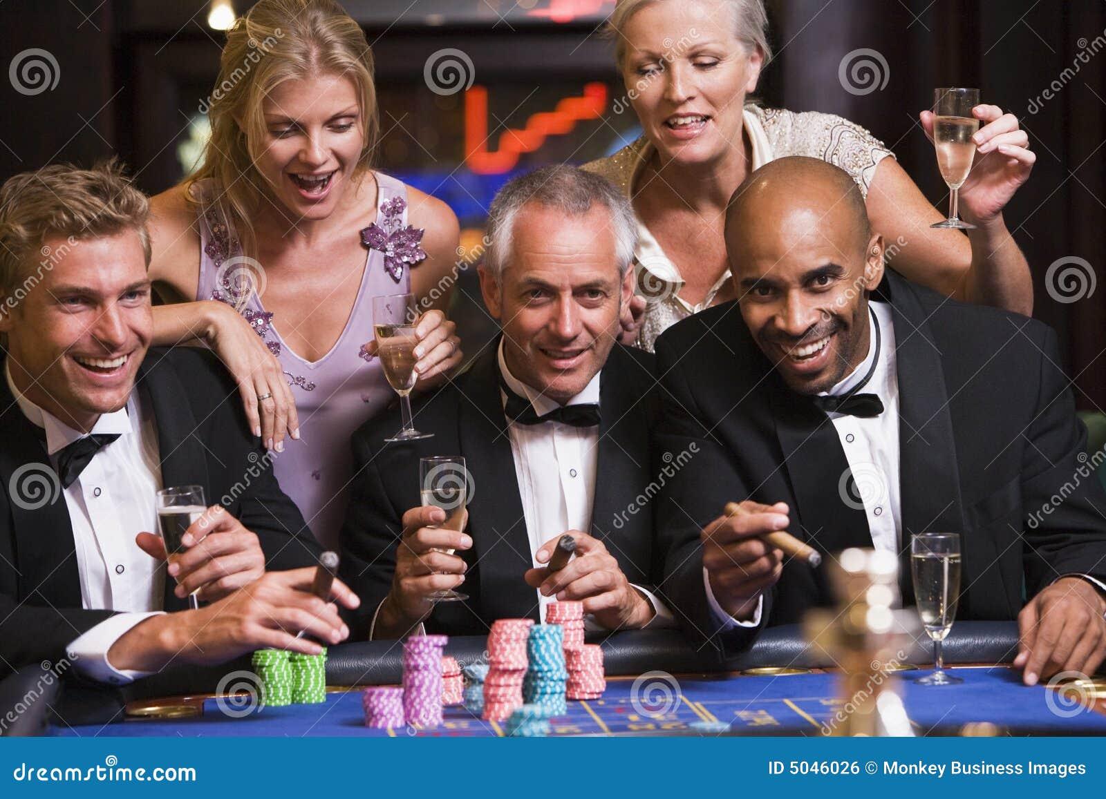 Friends at casino