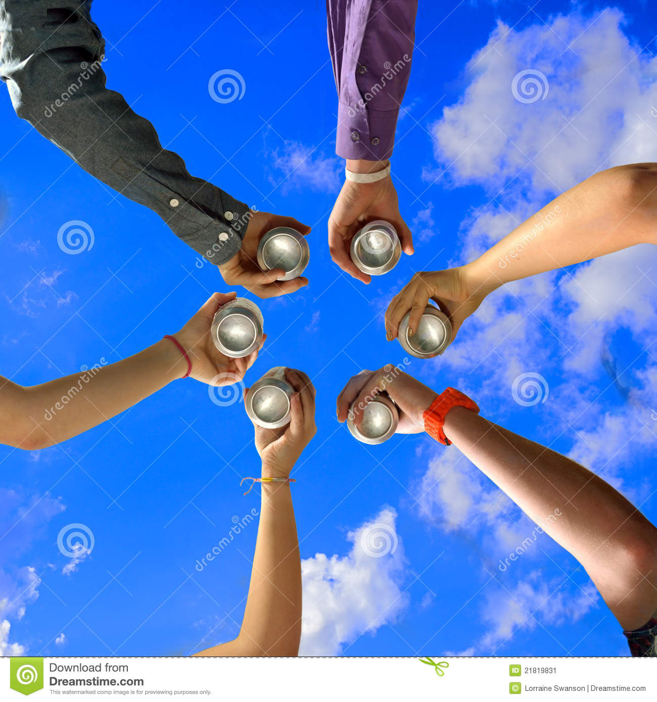Friends Cheers At Summer Party Stock Image Image 21819831