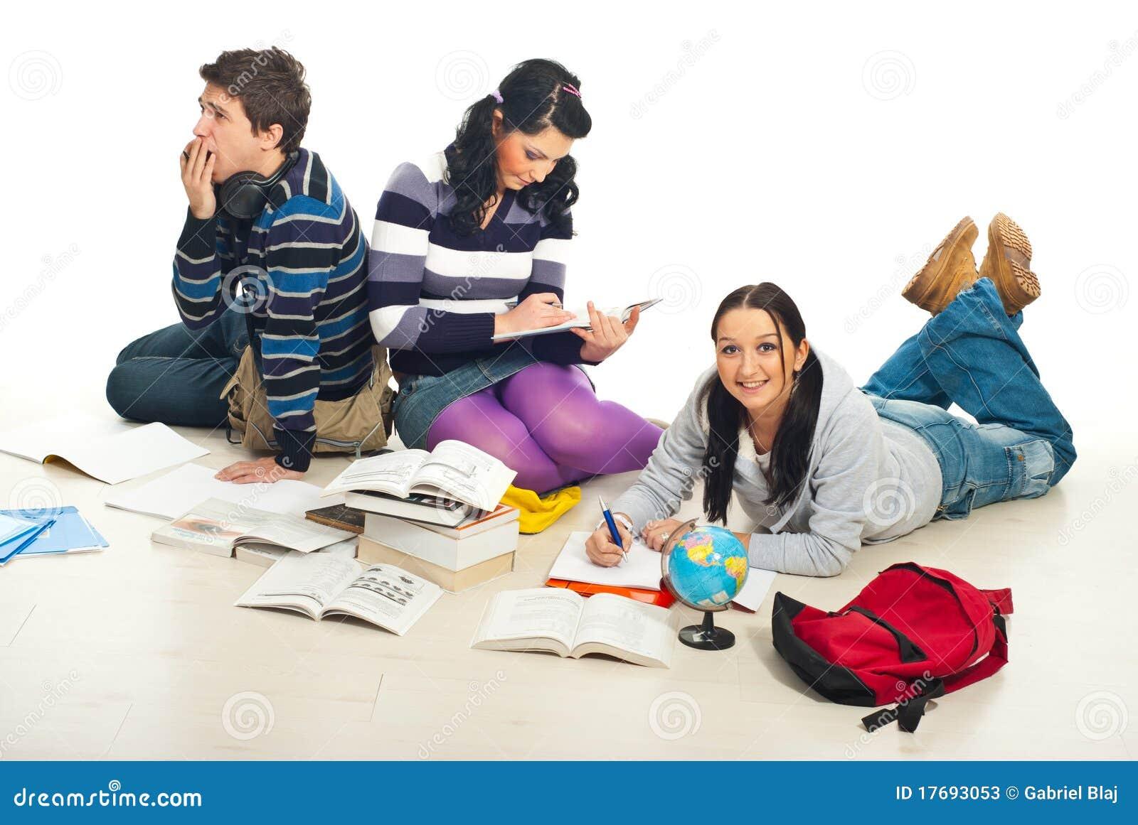 a person doing homework