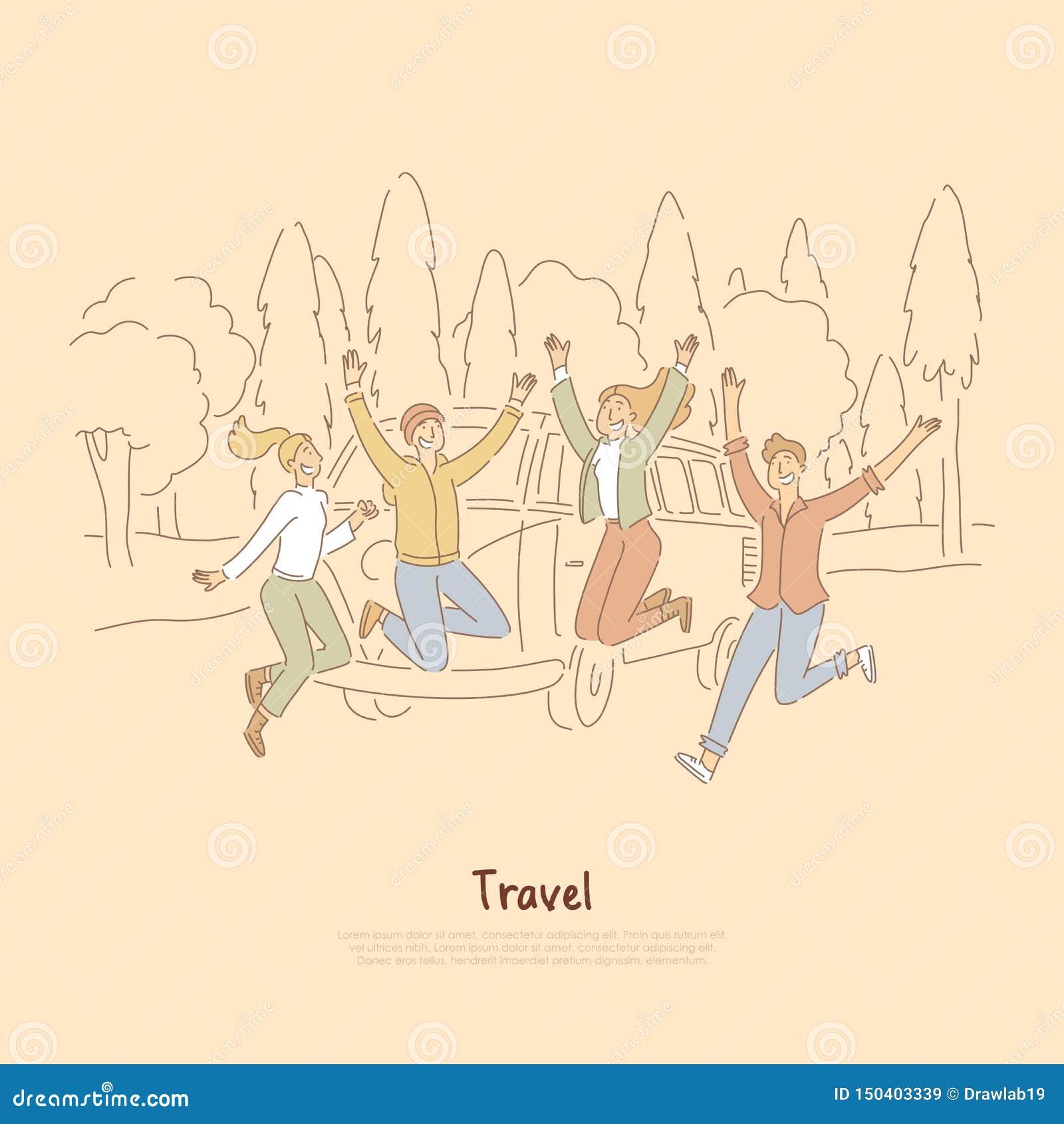 Road Trip Friends Stock Illustrations 449 Road Trip Friends Stock Illustrations Vectors Clipart Dreamstime