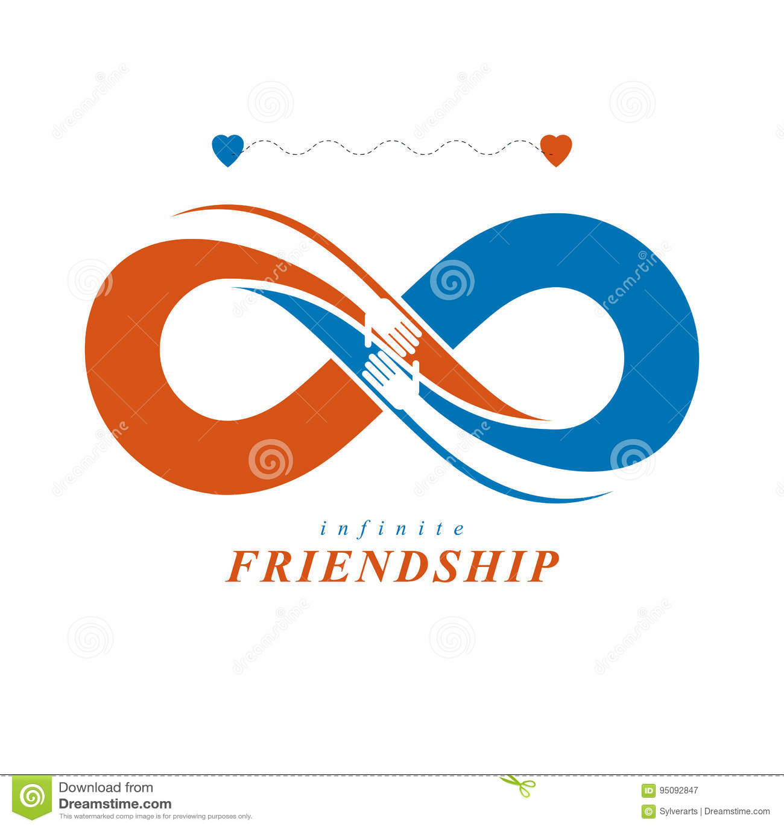 Friends Forever Everlasting Friendship Beautiful Vector Logo C