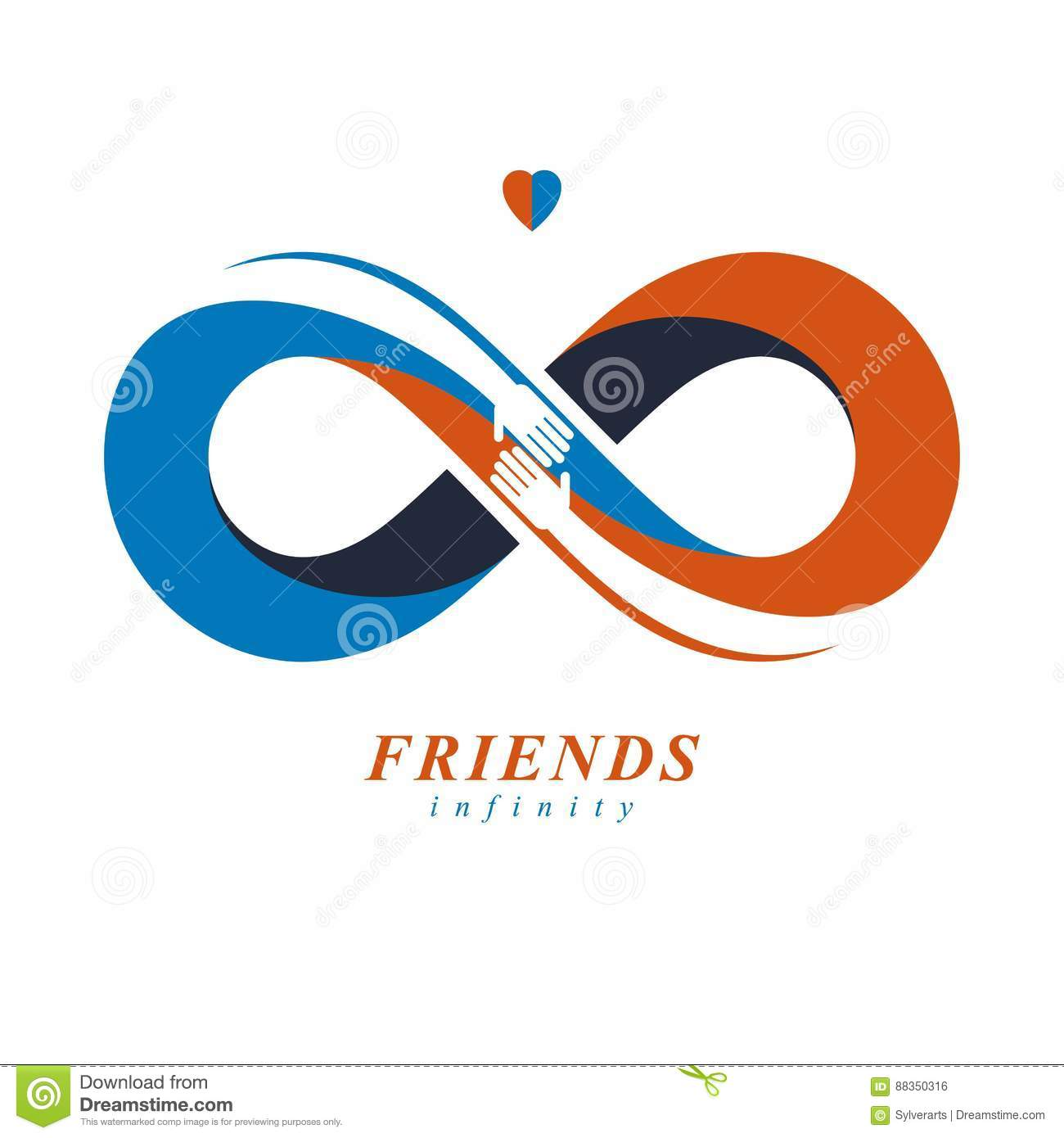 Friends forever everlasting friendship unusual vector logo comb friends forever everlasting friendship unusual vector logo comb creative illusion biocorpaavc Gallery