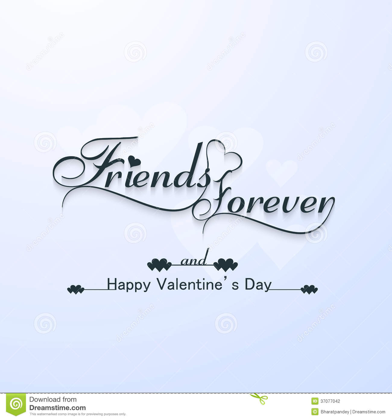 Friends Forever For Happy Valentine S Day Typography Text