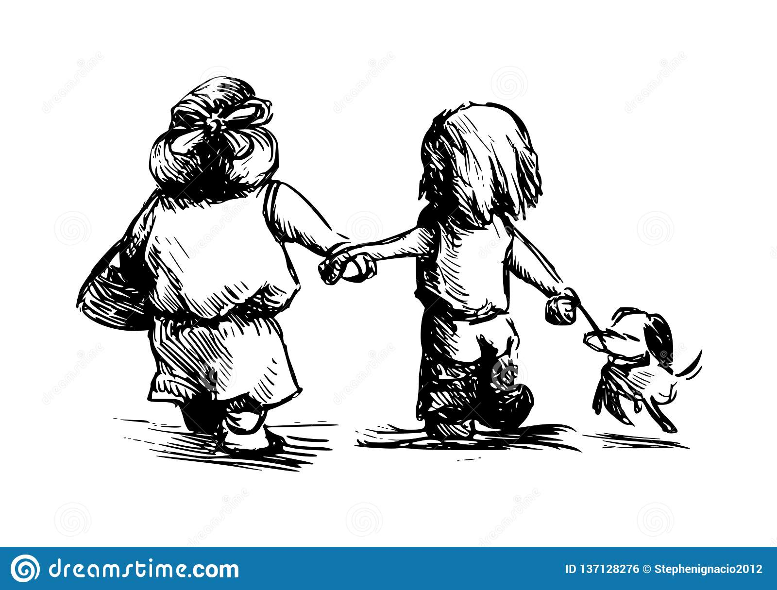 Friends forever stock illustration  Illustration of forever - 137128276