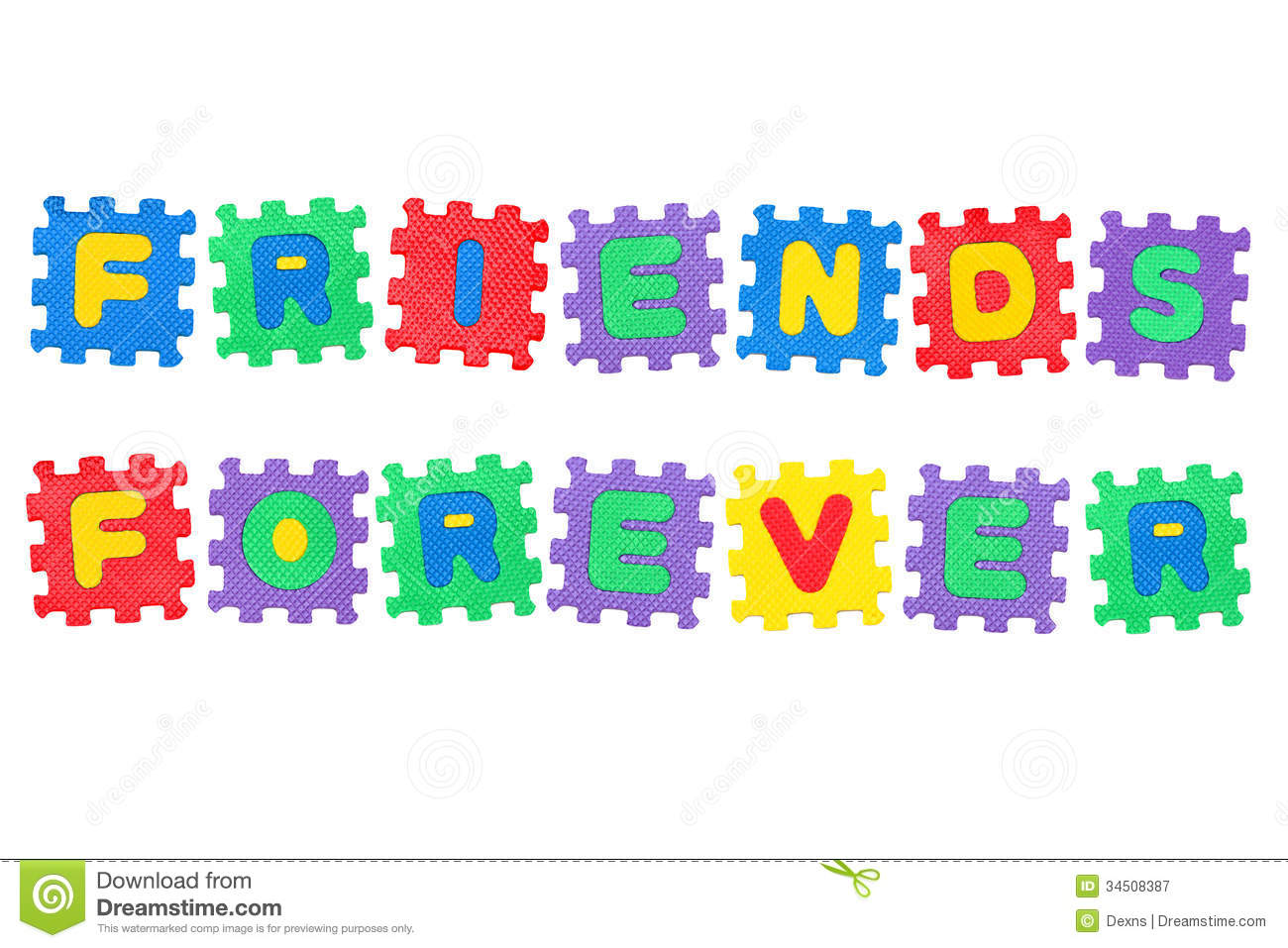 Friends Forever Stock Image Image Of Message Colorful