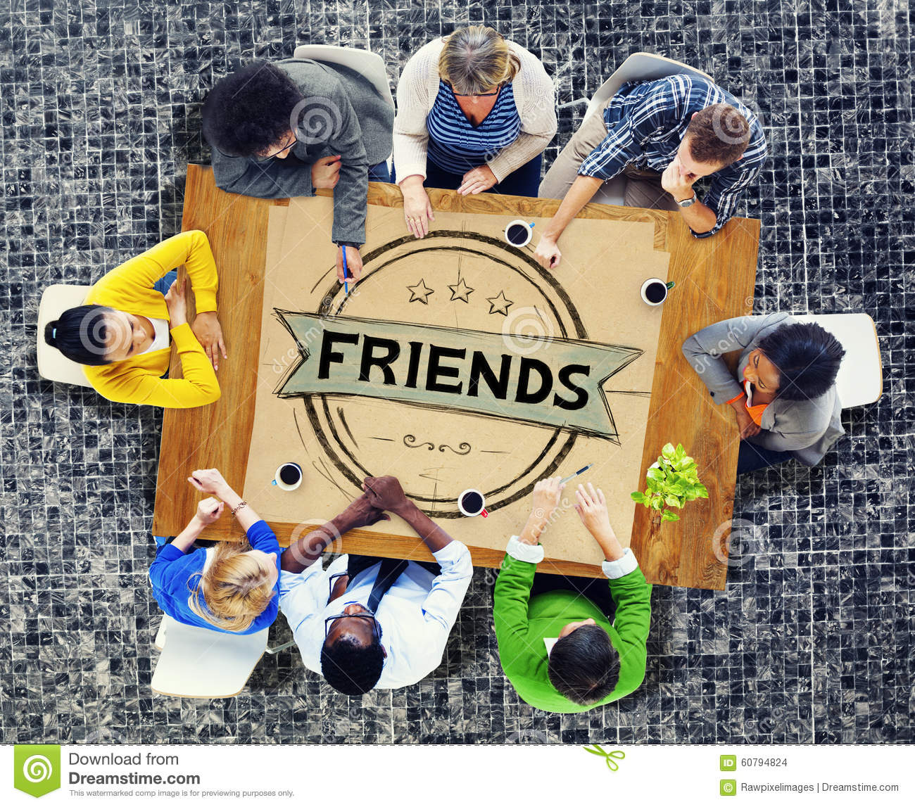 Friends Friendship Relationship Buddy Concept Stock Photo ...
