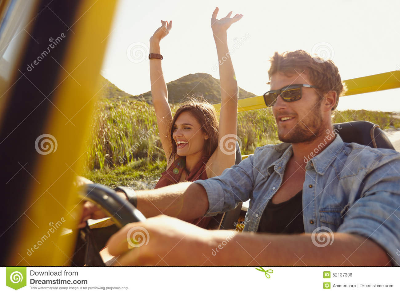 Friends going on road trip stock photo image 52137386 for Couples long weekend getaway