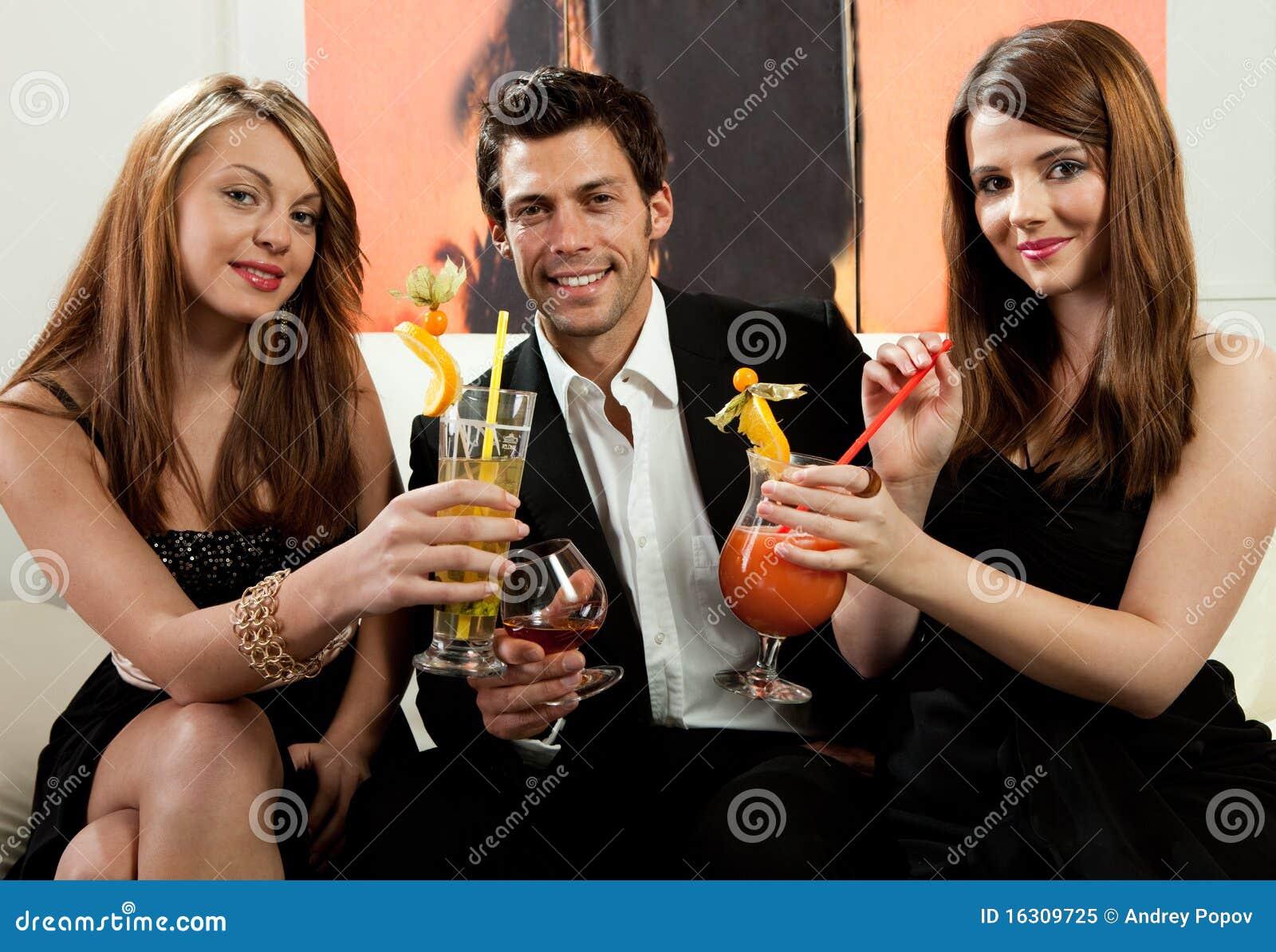 Friends having good time