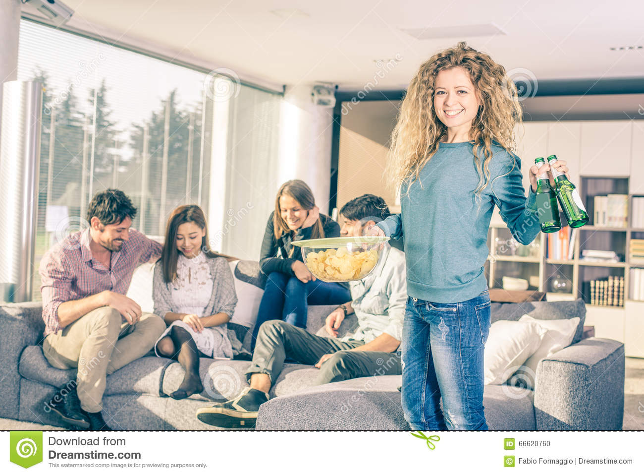 At Home Design: Friends At Home Party Stock Photo. Image Of Hispanic