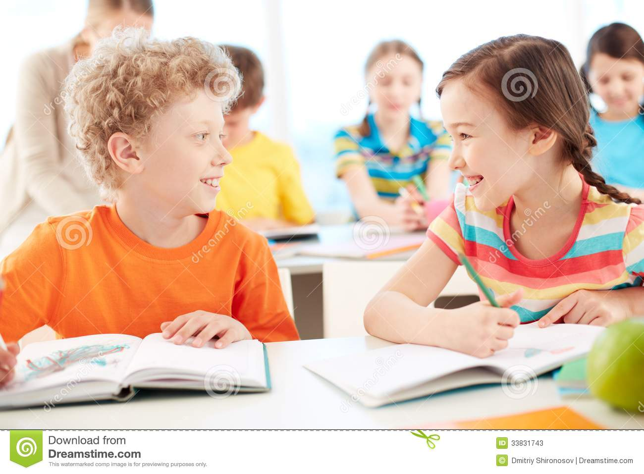 Friends At Lesson Stock Photos - Image: 33831743
