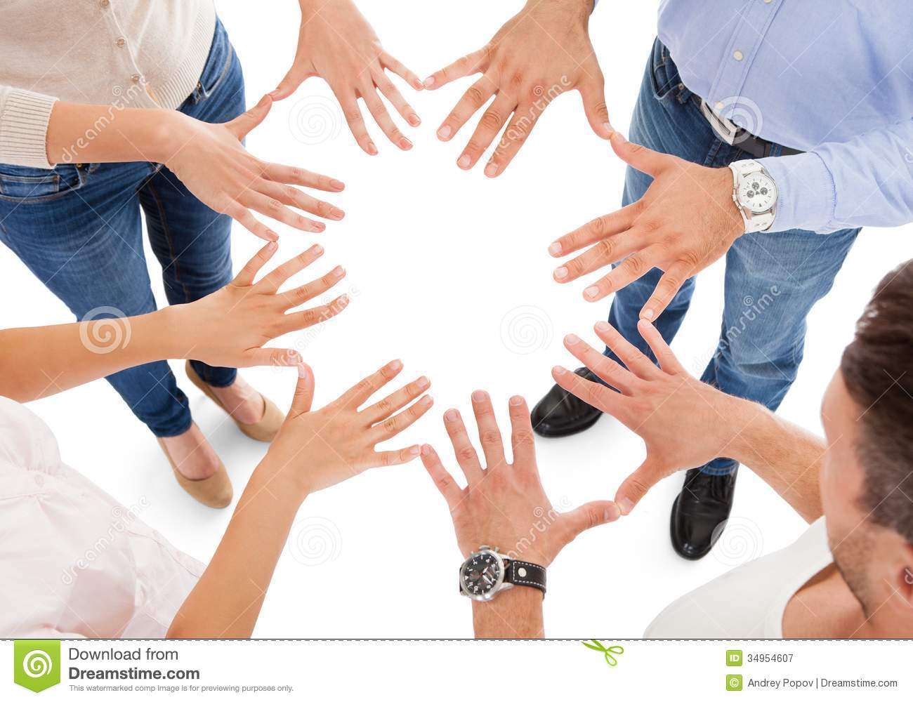 Friends Making Circle Shape With Hand Royalty Free Stock Photography ...