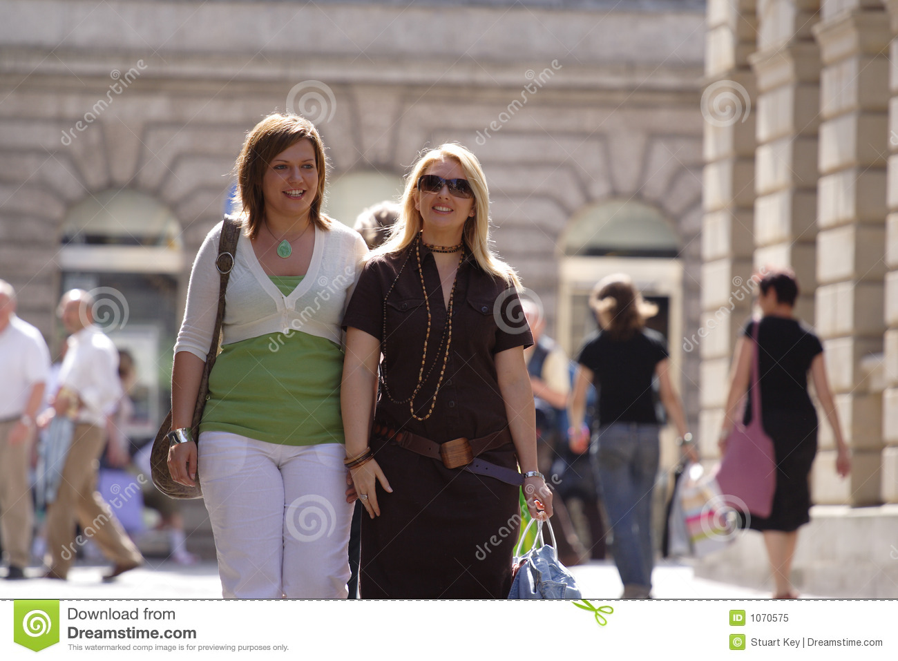 Friends out shopping