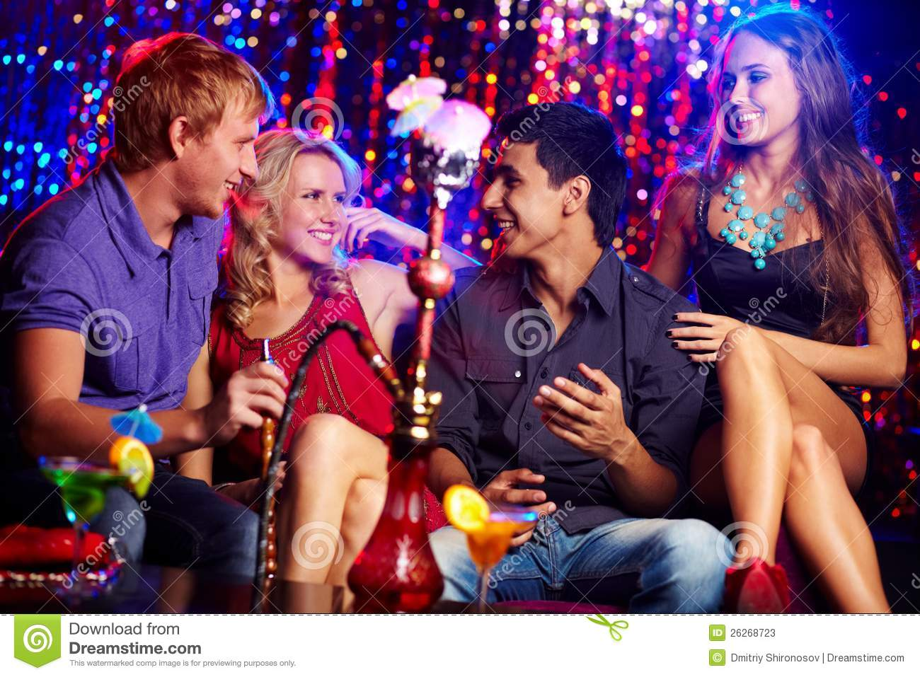 friends at party stock photos
