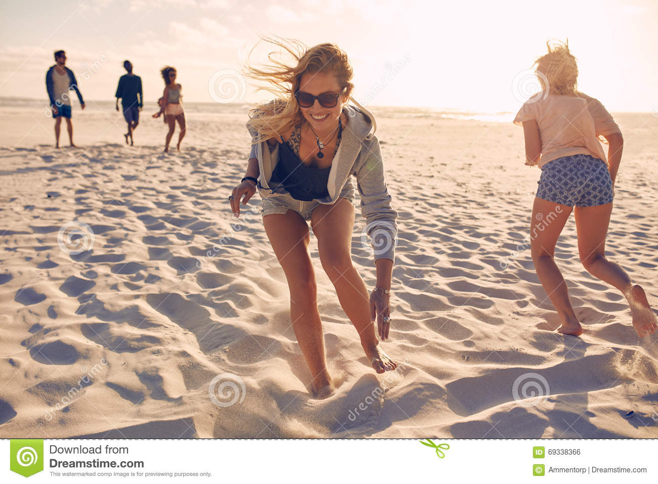 adults games Group beach for