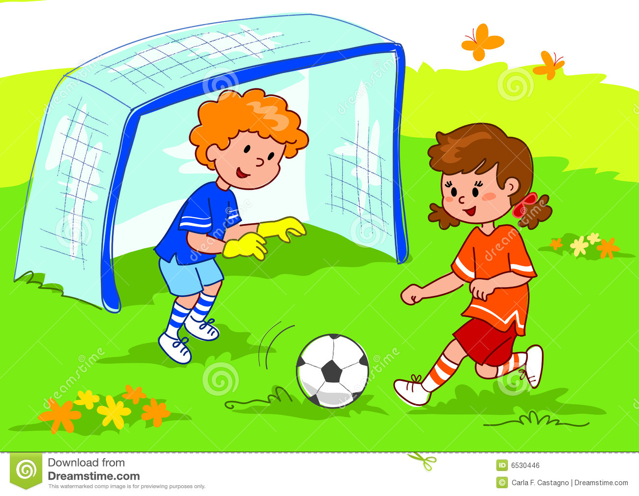 Friends playing soccer stock vector. Illustration of goal ...