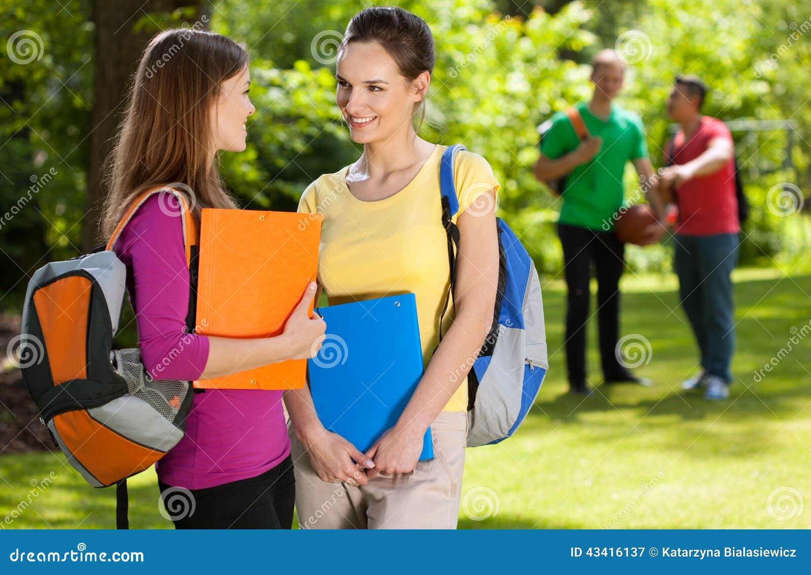 Friends Talking At School | www.imgkid.com - The Image Kid ...