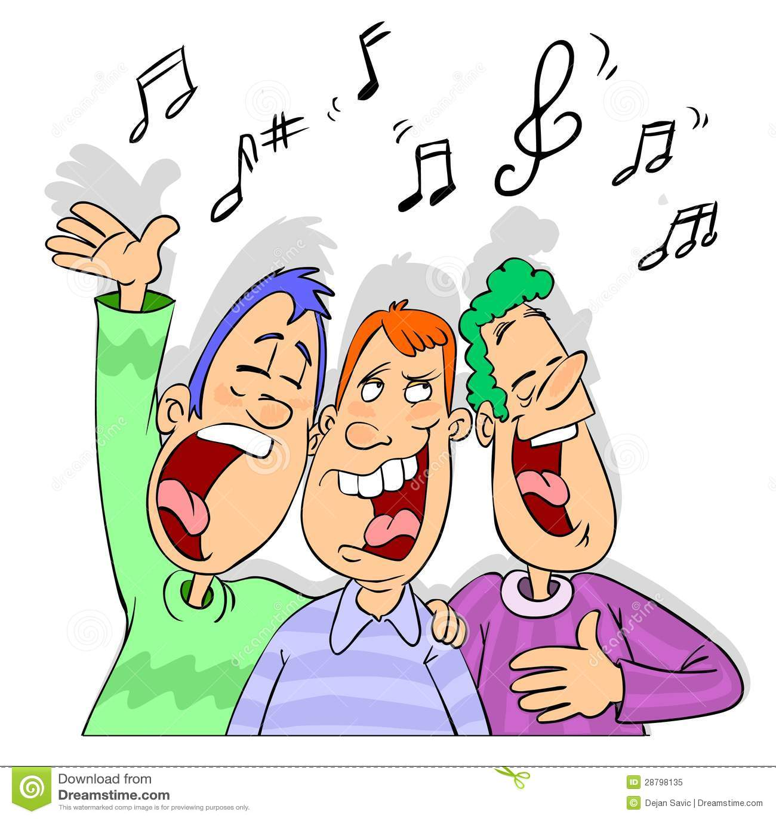 friends singing cartoon stock illustration illustration happy birthday friendship clipart happy birthday my friend clipart