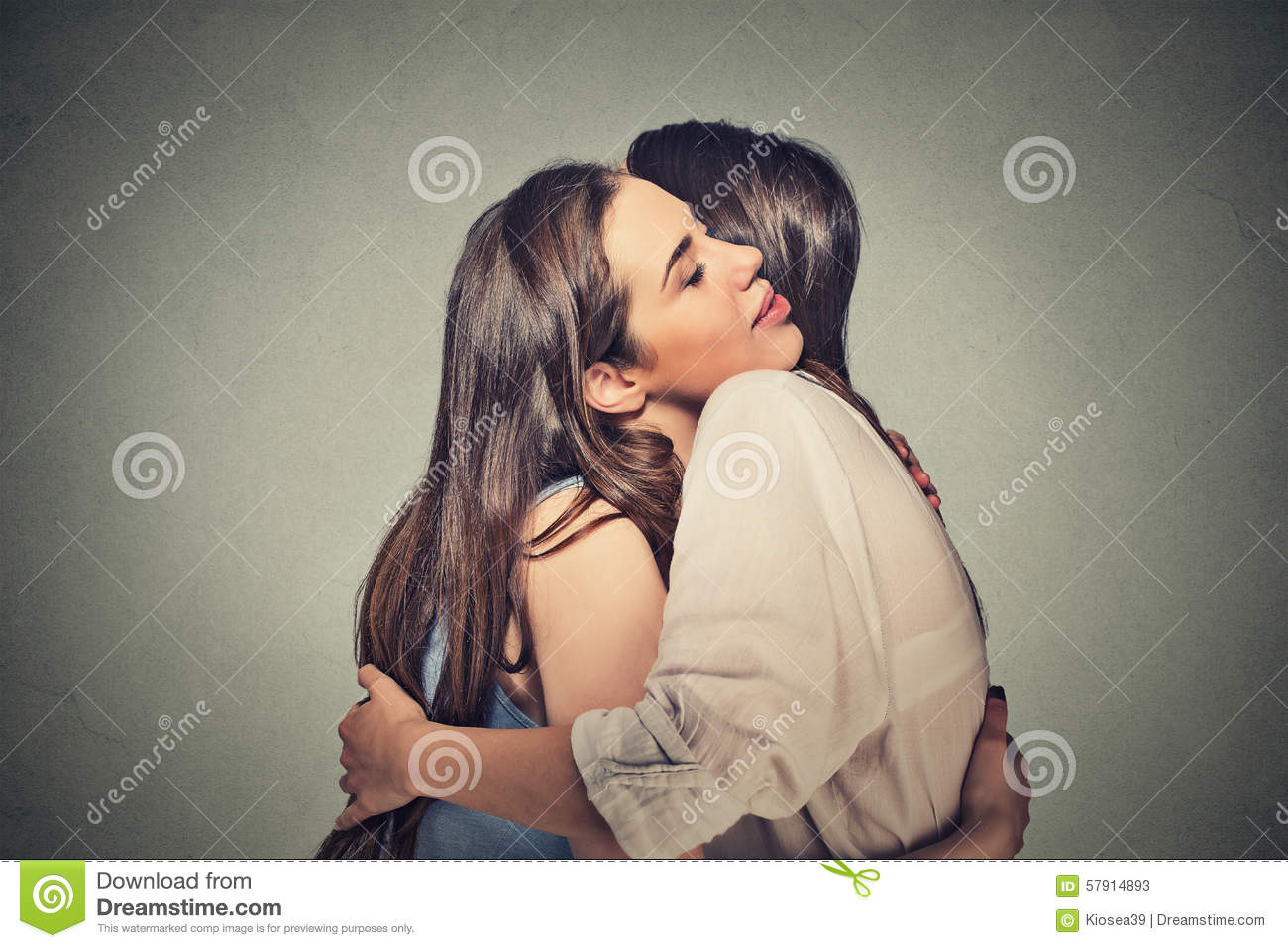 Friends Women Hugging Each Other Stock Photo - Image: 57914893