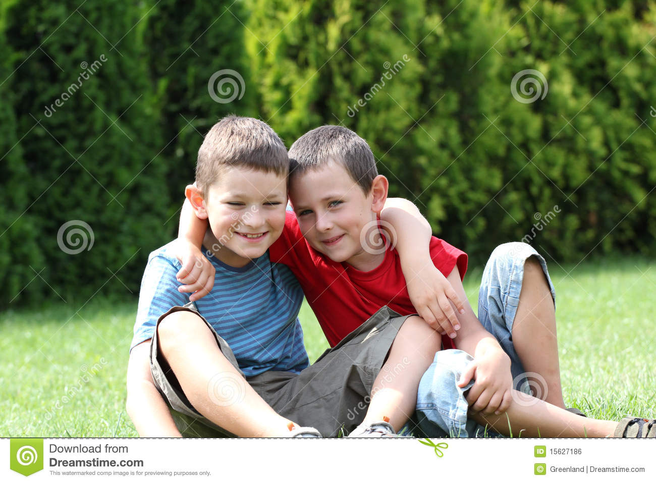 Friendship Stock Photo Image Of Grass Little Happy 15627186