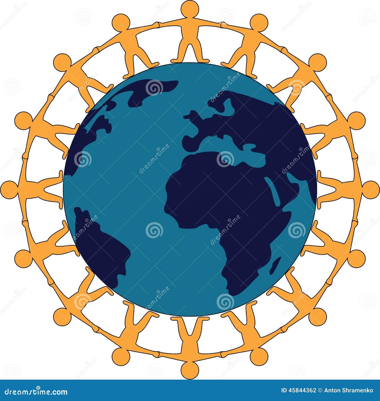 Friendship Around The World Symbol Stock Vector Illustration Of
