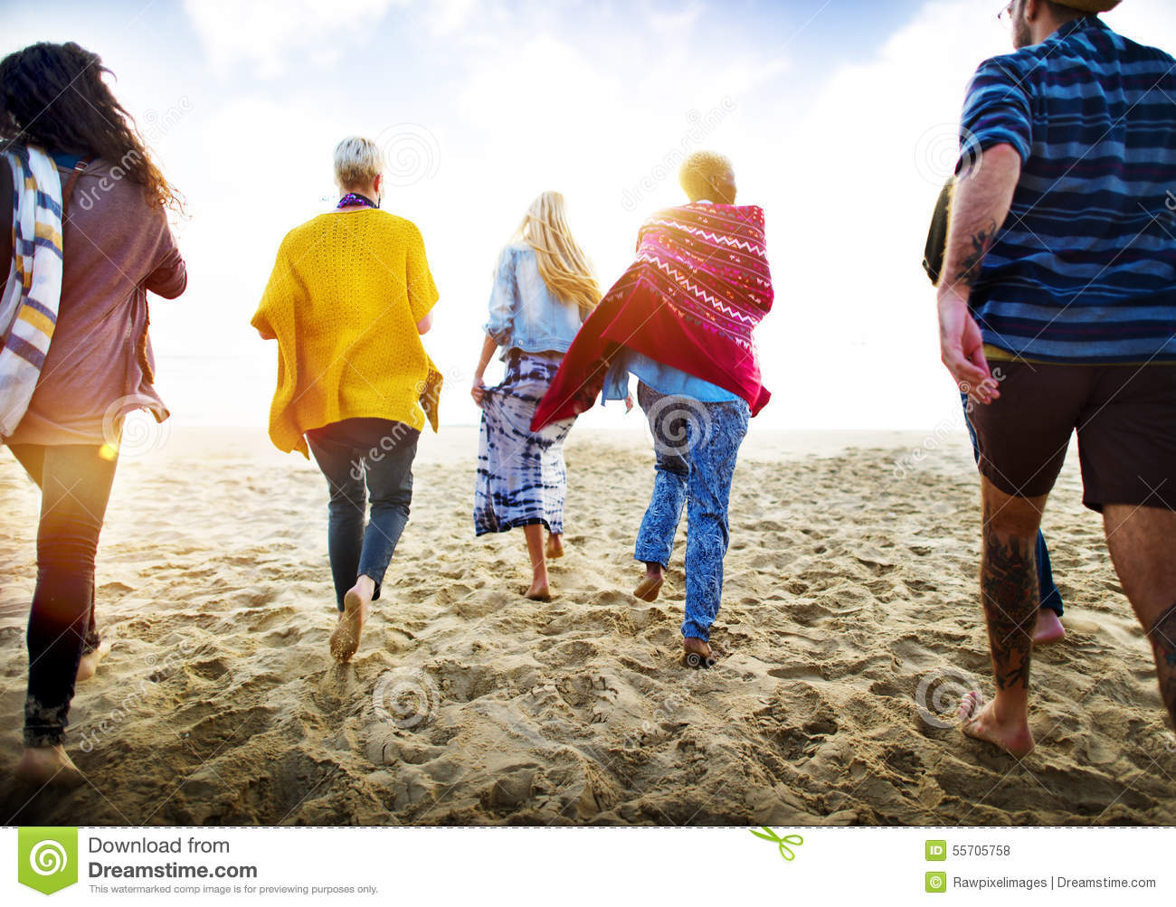 Download Friendship Bonding Relaxation Summer Beach Happiness Concept Stock Photo - Image of ethnic, holiday: 55705758