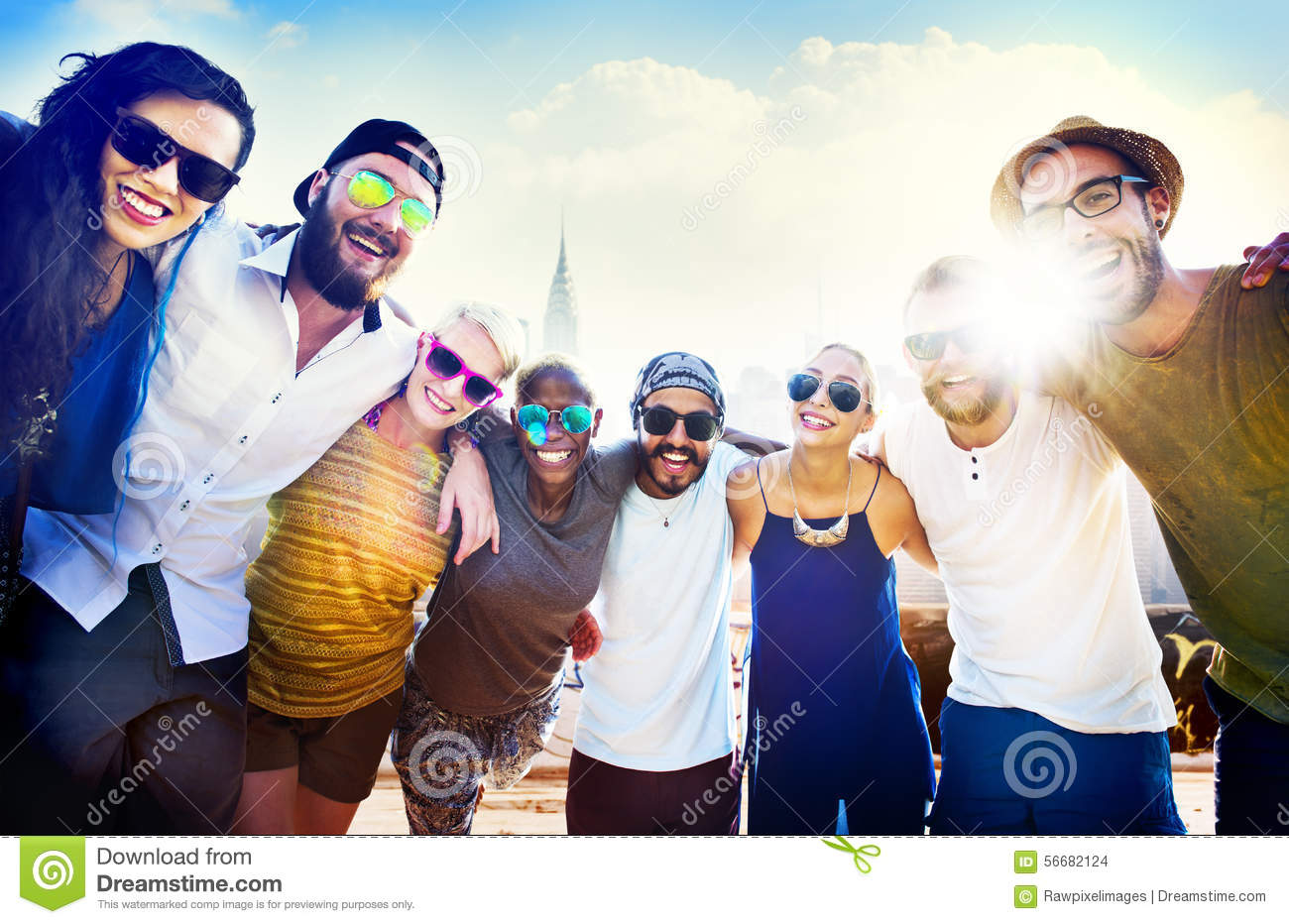 Download Friendship Bonding Relaxation Summer Beach Happiness Concept Stock Photo - Image of beach, event: 56682124