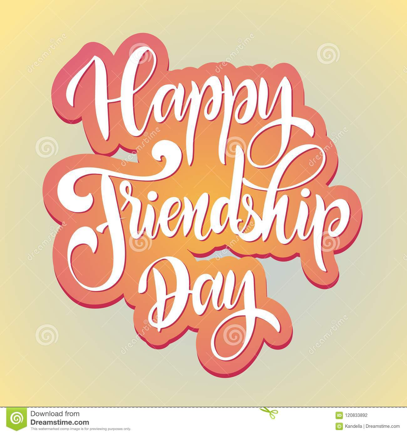 Friendship day hand drawn lettering stock vector illustration of friendship day hand drawn lettering vector elements for invitations posters greeting cards t shirt design friendship quotes m4hsunfo