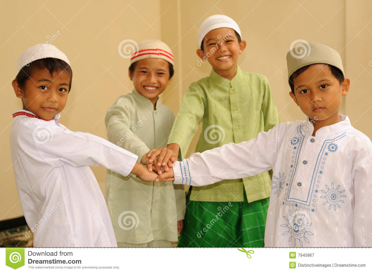 Friendship, Muslim Kids stock image. Image of religion ...
