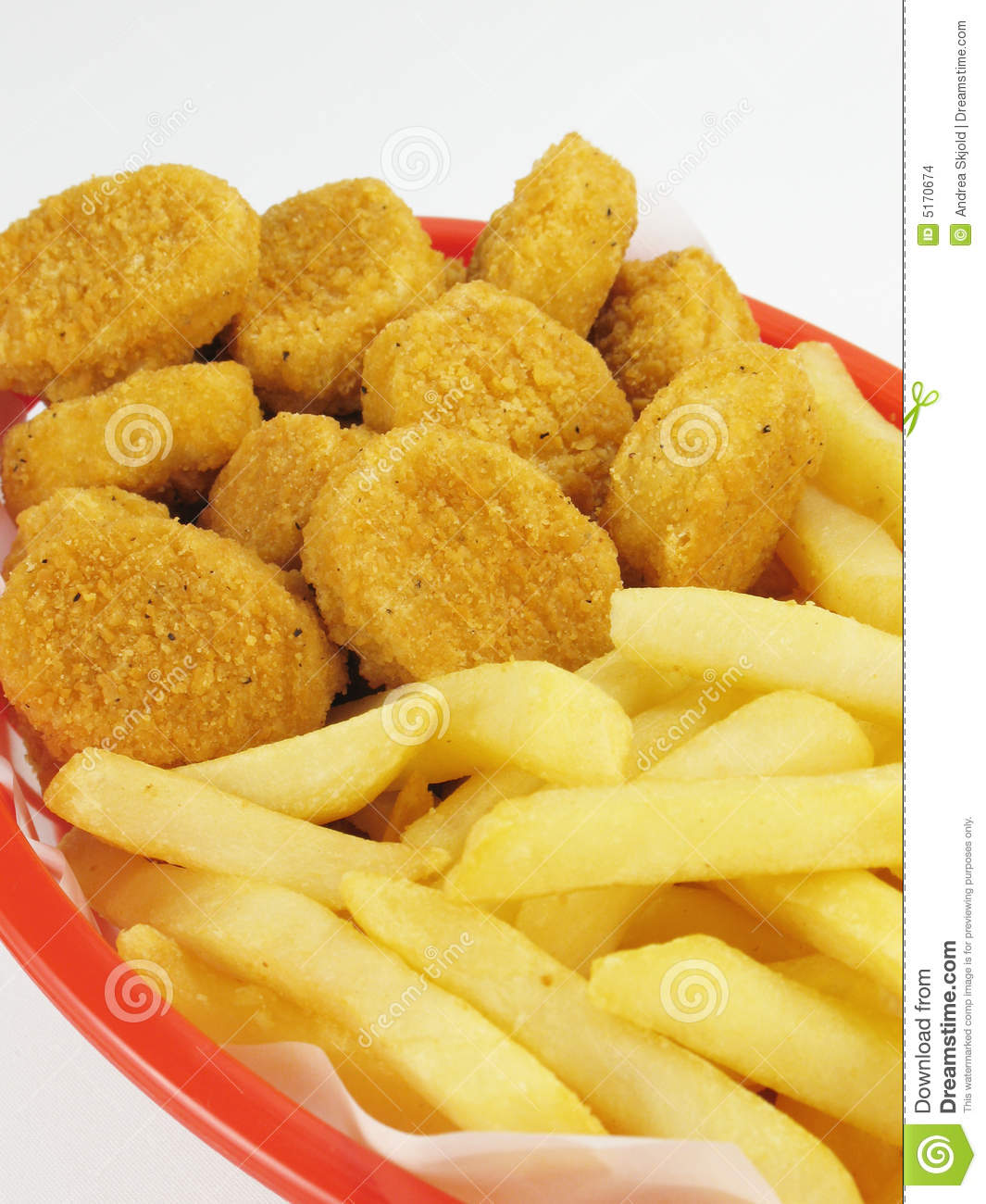 Fries & Chicken Nuggets Stock Images - Image: 5170674